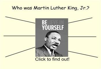 All about Martin Luther King Jr. Smartboard