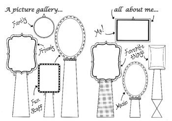 All about me! A picture gallery for children to draw Visua