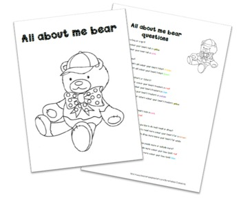 All about me bear activity