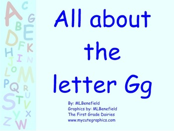 All about the letter Gg smartboard