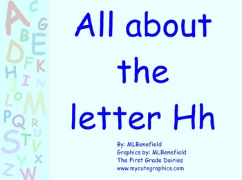 All about the letter Hh smartboard