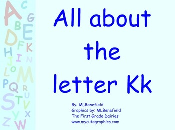 All about the letter Kk smartboard