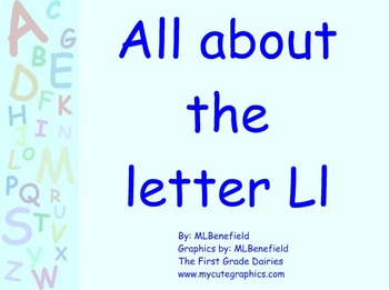 All about the letter Ll smartboard