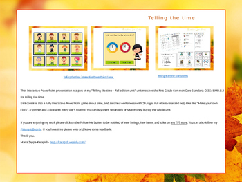 All about time and clocks - Interactive Presentation (fall