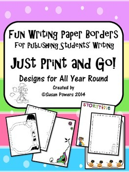 Free Publish Writing with Fancy Year Round Borders