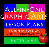 Graphic Arts Lesson Plans All-in-One ~ Full Curricula Book