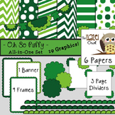 All-in-One Set: Oh So Puffy 13 {Digital Papers, Frames, Pa
