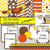 All-in-One Set: Oh So Puffy 5 {Digital Papers, Frames, Pag
