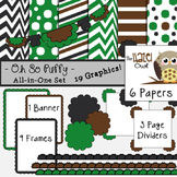 All-in-One Set: Oh So Puffy 7 {Digital Papers, Frames, Pag