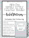 All-in-One Simple Style Teacher Binder {Tribal Patterns}