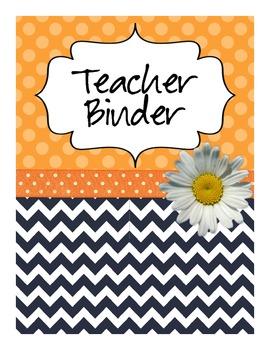 All in One Teacher Binder (Navy/Orange)