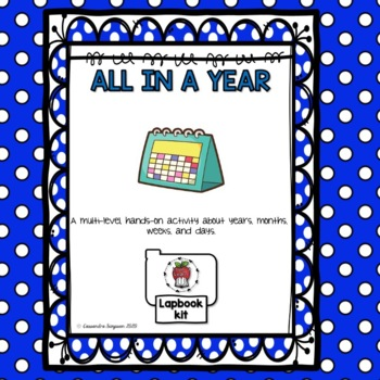 All in a Year lapbook kit