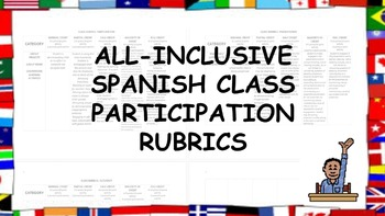 All-inclusive Spanish Class Participation Rubrics