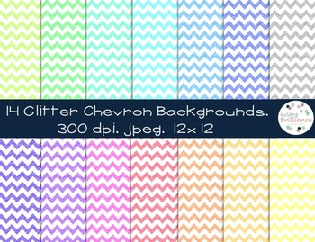 So Much Glitter! Sparkle Chevron Digital Papers