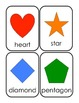 Preschool skill assessment form & flashcards (shapes, colo