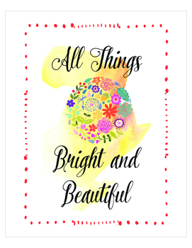 All things bright and beautiful print set, Christian Relig