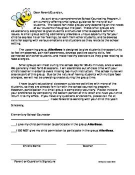 AllerBees ~ Parent Permission Letter and Questionnaire