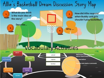 Allie's Basketball Dream Comprehension Activities (Harcourt)
