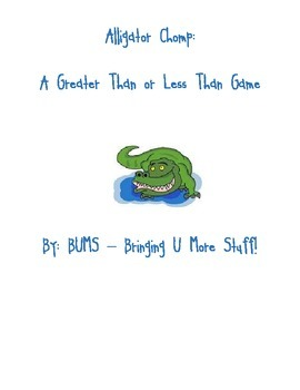 Alligator Chomp - Comparing Numbers, Greater Than/Less Than