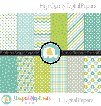 Alligator Green Digital Papers
