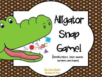 Alligator Snap Game! (identifying letters, letter sounds,