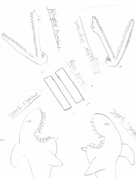 Alligators and Sharks Symbols for Greater/Less Than