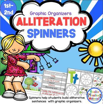 Alliteration Spinners to Create Sentences and Teach Kids A