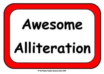 Alliteration Display Poster Pack