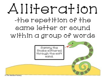 Alliteration Poster and Booklet