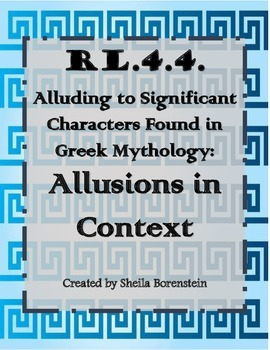 RL.4.4: Alluding to Characters in Greek Mythology: Allusio