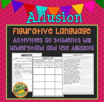 Allusion Figurative Language Interactive / Guided Notes an