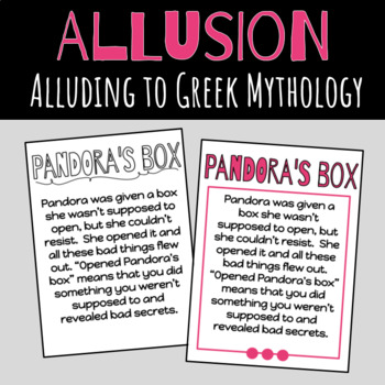 Allusion: Alluding to Greek Mythology