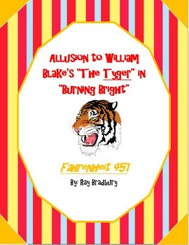 "Allusion to William Blake's ""The Tyger"" in Fahrenheit 451"