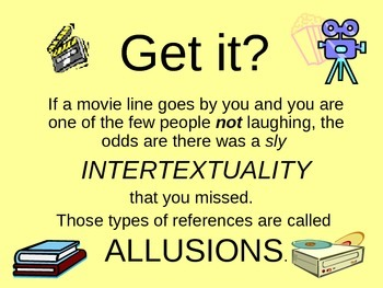 Allusions Instruction, Examples, and worksheet