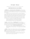 Allusions - Literature