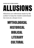 Allusions Poster for the High School Classroom