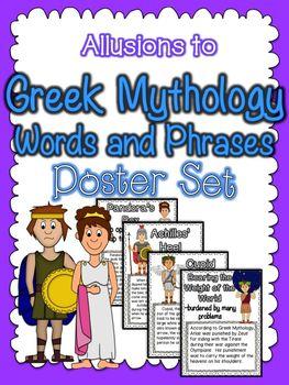 Allusions to Greek Mythology Poster Set:  CCSS RL.4.4