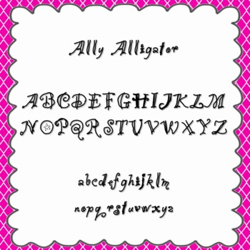 Ally Alligator Font {personal and commercial use; no licen