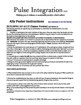 Ally Poster making.. From Bystanders to Allies