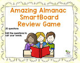 Almanac Review SmartBoard Game - Editable Questions