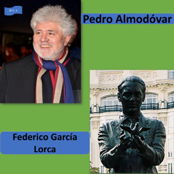 Almodóvar and García Lorca, Spanish cultural icons; 2 unit