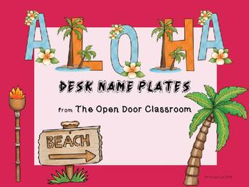 Aloha Desk Labels