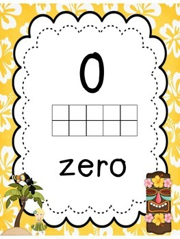 Aloha Numbers from 1 - 20