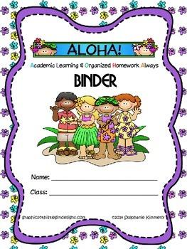 Aloha {Tropical Island} Binder Cover