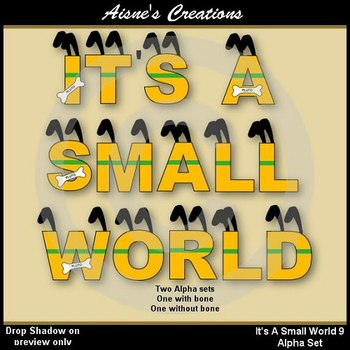 Alpha & Numbers - It's A Small World 9 Clip Art Set