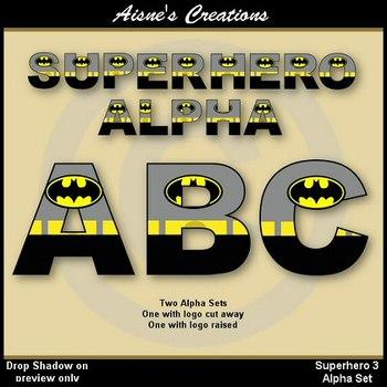 Superhero Batman Alphabet & Numbers