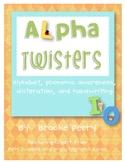 Alpha Twisters:  Alphabet, Phonemic Awareness, and Handwri