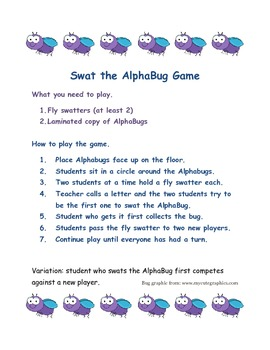 AlphaBug Swat Letter Learning Fun