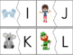 Alphabet Puzzles featuring Uppercase and Lowercase Letters