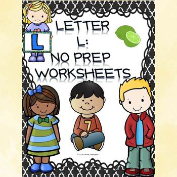 Alphabet Letter of the Week: Letter L (No Prep Worksheets)